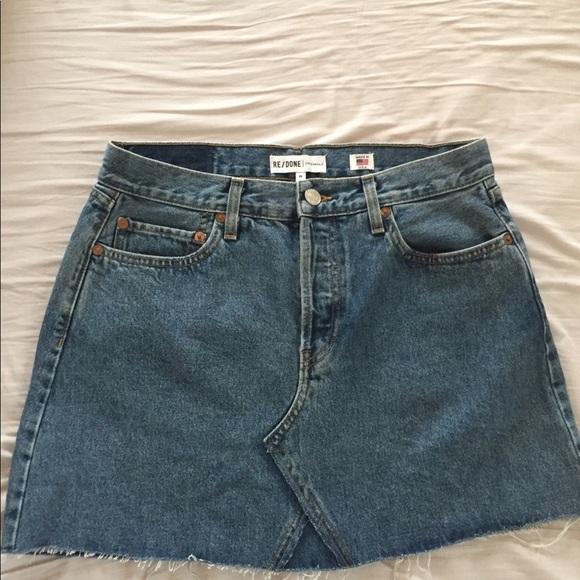 2b8de8afc8 Re/Done Levi's High Rise Mini Denim Skirt Jeans 30.  M_5b0ad5593b1608bdc97350d8